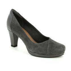 Clarks Heeled Shoes - Dark Grey - 2882/04D CHORUS CAROL