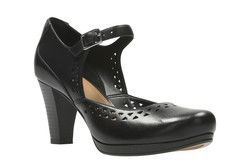 Clarks Heeled Shoes - Black - 2420/74D CHORUS CHIME