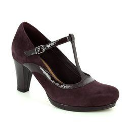 Clarks Heeled Shoes - Aubergine - 2882/14D CHORUS PITCH