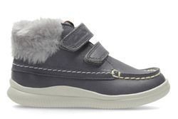 Clarks Girls 1st Shoes & Prewalkers - Grey - 3012/86F CLOUD FLUFI FST