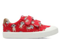 Clarks Boys Trainers - Red multi - 3334/16F COMIC AIR