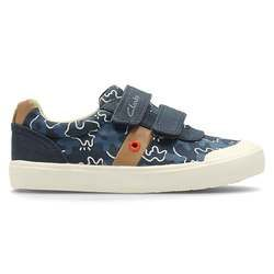 Clarks Boys Trainers & Canvas - Navy - 2401/26F COMIC ZONE INF