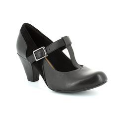 Clarks Heeled Shoes - Black - 1161/84D COOLEST LASS