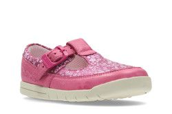 Clarks Girls 1st Shoes & Prewalkers - Pink - 2433/96F CRAZY TALE FST