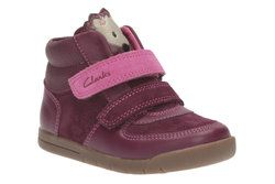 Clarks Girls 1st Shoes & Prewalkers - Plum - 2174/57G CRAZYIRENE FST