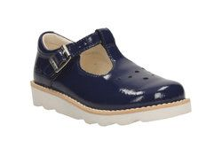 Clarks Girls Shoes - Navy patent - 2171/36F CROWN POP INF