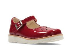 Clarks Girls Shoes - Red patent - 2363/96F CROWN POSY INF