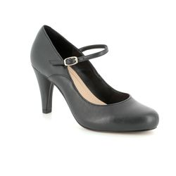 Clarks Heeled Shoes - Black - 3327/14D DALIA LILY