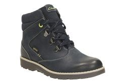 Clarks Boys Boots - Navy - 1914/17G DAY HI GORE-TEX JNR