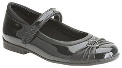 Clarks Girls Shoes - Black patent - 5490/56F DOLLY HEART