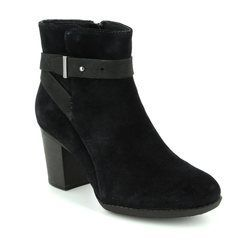 Clarks Boots - Ankle - Black suede - 2884/44D ENFIELD SARI