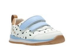 Clarks Girls 1st Shoes & Prewalkers - White multi - 2343/86F FERRIS VIBE FS