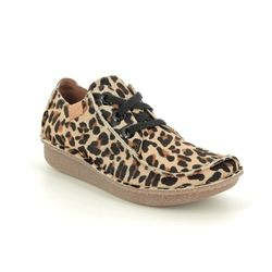 Clarks Comfort Lacing Shoes - Leopard print - 461184D FUNNY DREAM