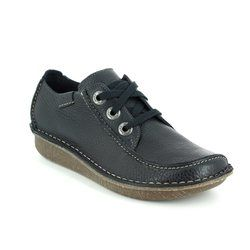Clarks Comfort Lacing Shoes - Navy - 0112/34D FUNNY DREAM