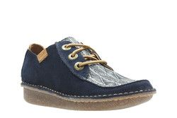Clarks Comfort Lacing Shoes - Navy multi - 2375/34D FUNNY DREAM