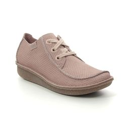 Clarks Comfort Lacing Shoes - Pink Nubuck - 475724D FUNNY DREAM