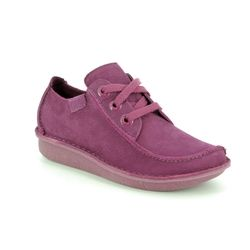 Clarks Comfort Lacing Shoes - Raspberry pink - 400984D FUNNY DREAM