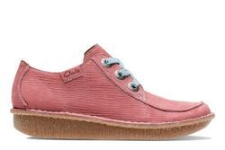 Clarks Comfort Lacing Shoes - Red - 3233/84D FUNNY DREAM