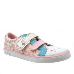 Clarks Girls Trainers - Off white multi - 1502/56F GRACIE BEA INF