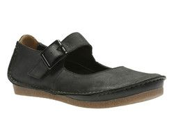 Clarks Comfort Shoes - Black nubuck - 2417/64D JANEY JUNE