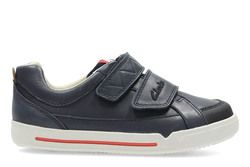 Clarks Boys Shoes - Navy - 2703/36F LILFOLK TOBY