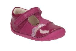 Clarks Girls 1st Shoes & Prewalkers - Pink - 1897/88H LITTLE CAZ