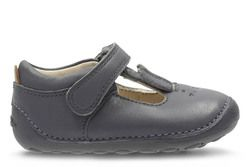 Clarks Girls 1st Shoes & Prewalkers - Grey - 2740/76F LITTLE GLO