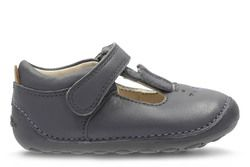 Clarks Girls 1st Shoes & Prewalkers - Grey - 2740/77G LITTLE GLO