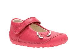 Clarks Girls 1st Shoes & Prewalkers - Pink - 2460/66F LITTLE MIA