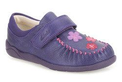Clarks Girls Shoes - Purple - 0241/36F LITZY EVIE INF