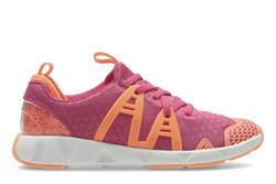 Clarks Girls Trainers - Pink multi - 3005/37G LUMINOUS GLO