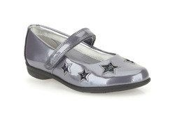 Clarks Girls Shoes - Grey patent - 0255/66F ORRA STAR