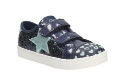 Clarks Girls Trainers - Blue - 2052/36F PATTIE MAY INF