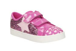 Clarks Girls Trainers & Canvas - Pink - 2052/16F PATTIE MAY INF