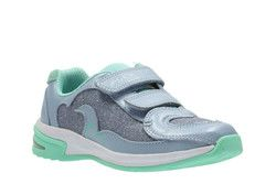 Clarks Girls Trainers - Blue multi - 2340/06F PIPER CHAT INF