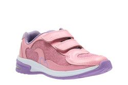Clarks Girls Trainers - Pink - 2465/16F PIPER CHAT INF