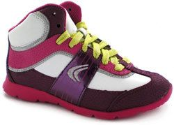 Clarks Girls Trainers - White multi - 5453/26F PRANCE HIGH