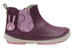 Clarks Girls 1st Shoes & Prewalkers - Plum - 2724/56F SOFTLY ELI FST