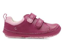 Clarks Girls 1st Shoes & Prewalkers - Pink - 2741/16F SOFTLY HEN FST