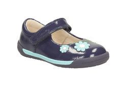 Clarks 1st Shoes & Prewalkers - Navy patent - 1435/86F SOFTLY JAM FST