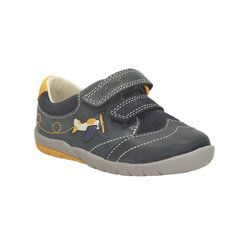 Clarks 1st Shoes & Prewalkers - Navy - 1018/26F SOFTLY LIAM FS