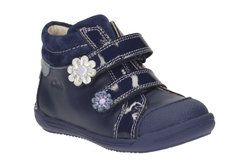 Clarks Girls 1st Shoes & Prewalkers - Navy - 2052/67G SOFTLY TAM FST