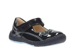 Clarks Girls 1st Shoes & Prewalkers - Navy patent - 2349/26F SOFTLY WOW FST