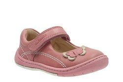 Clarks Girls 1st Shoes & Prewalkers - Pale pink - 2349/16F SOFTLY WOW FST