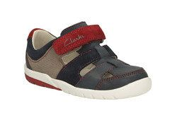 Clarks Boys 1st Shoes & Prewalkers - Navy multi - 0662/66F SOFTLYMOON FST - F FIT