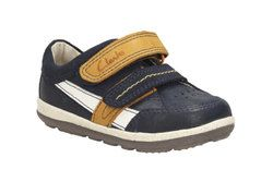 Clarks Boys 1st Shoes & Prewalkers - Navy - 1414/67G SOFTLY ZAKK FS