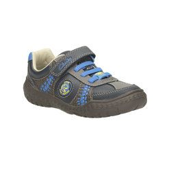 Clarks Boys Shoes - Navy - 0962/46F STOMP ROLL INF