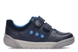 Clarks Boys Shoes - Navy - 3167/66F TOLBY BUZZ