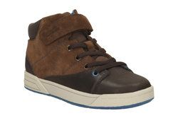 Clarks Boys Boots - Brown - 1913/56F TOPIC HI JNR