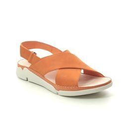 Clarks Comfortable Sandals - Yellow nubuck - 479274D TRI ALEXIA